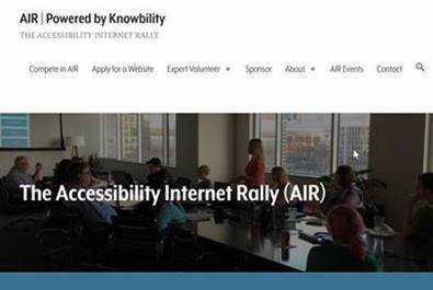 The Accessibility Internet Rally (AIR) Powered by Knowbility